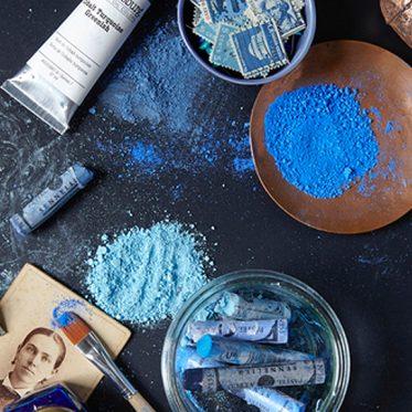 Blue Paint powder