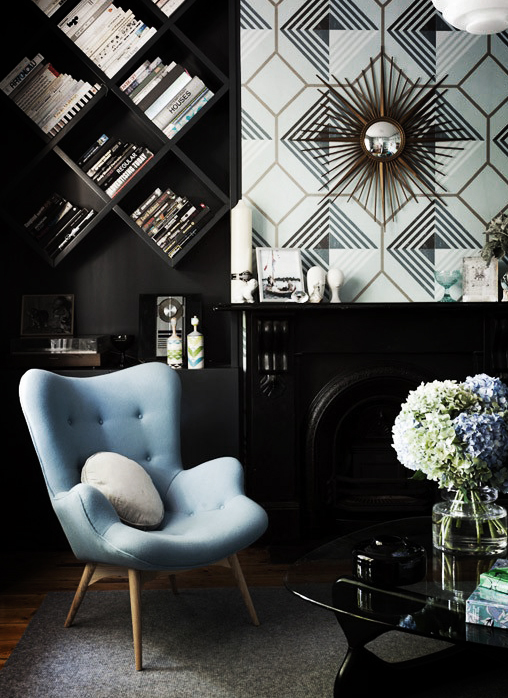 Arm chair and bookcase
