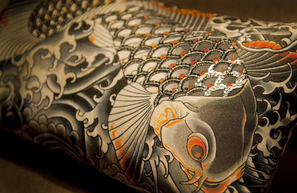 Koi Carp print textile