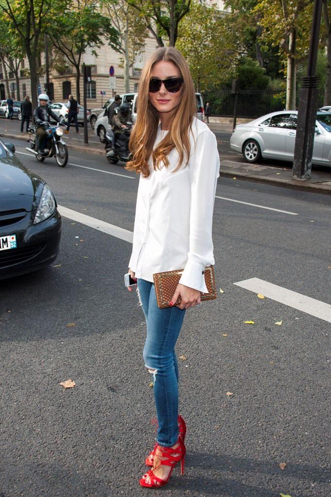 Model posing in jeans