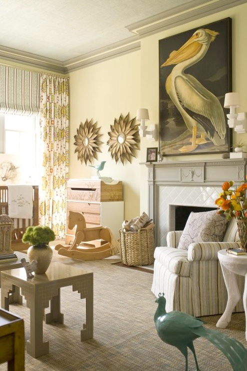 A splash of art in living room