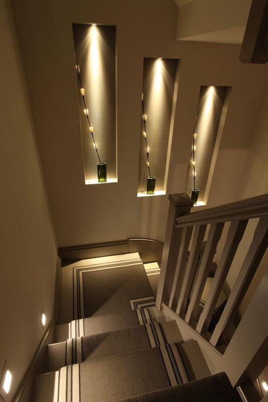 Lighting Basement Washroom Stairs: Smartstyle Interiors