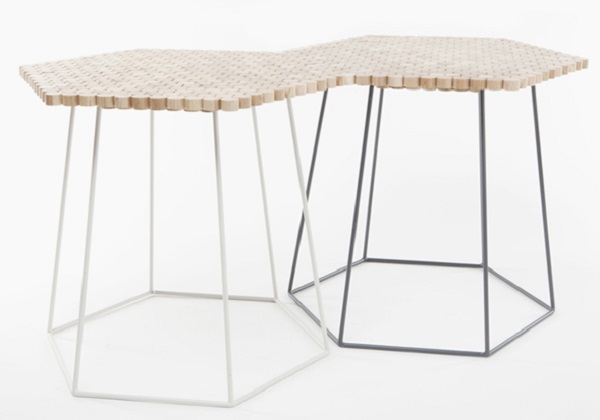 Hexaform Side Table by Catherine Aitken