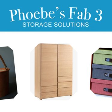 Phoebe's Fab 3: Storage Solutions