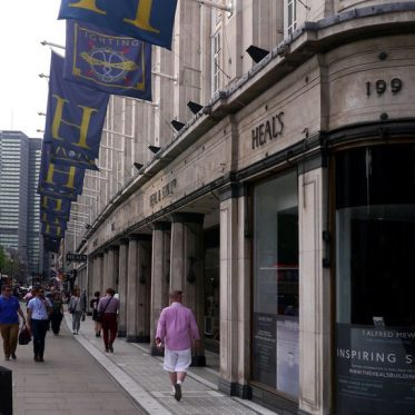 Heals showroom high street shopping