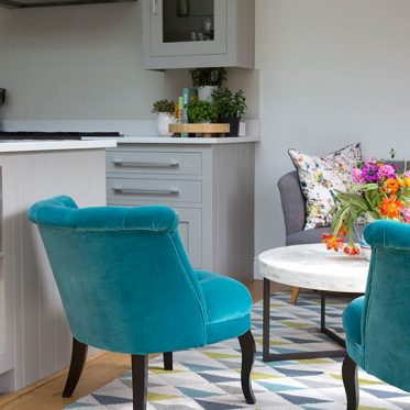 sevenoaks kitchen dinning room bright teal