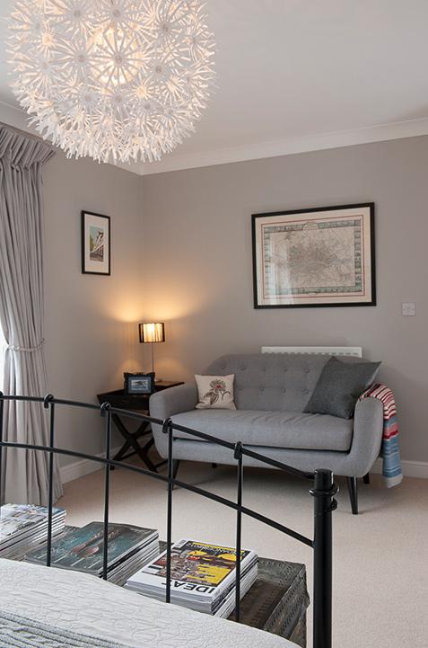 guest bedroom floral ceiling light