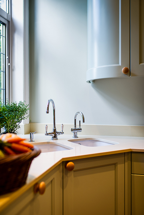 kitchen redesign with twin sinks