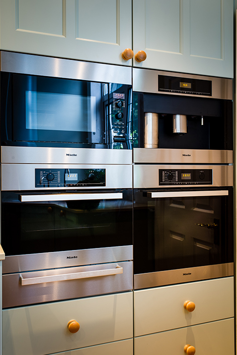 kitchen redesign with Miele twin built in ovens