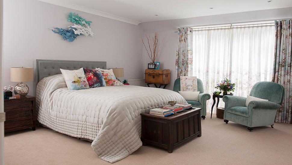 teal bedroom interior design