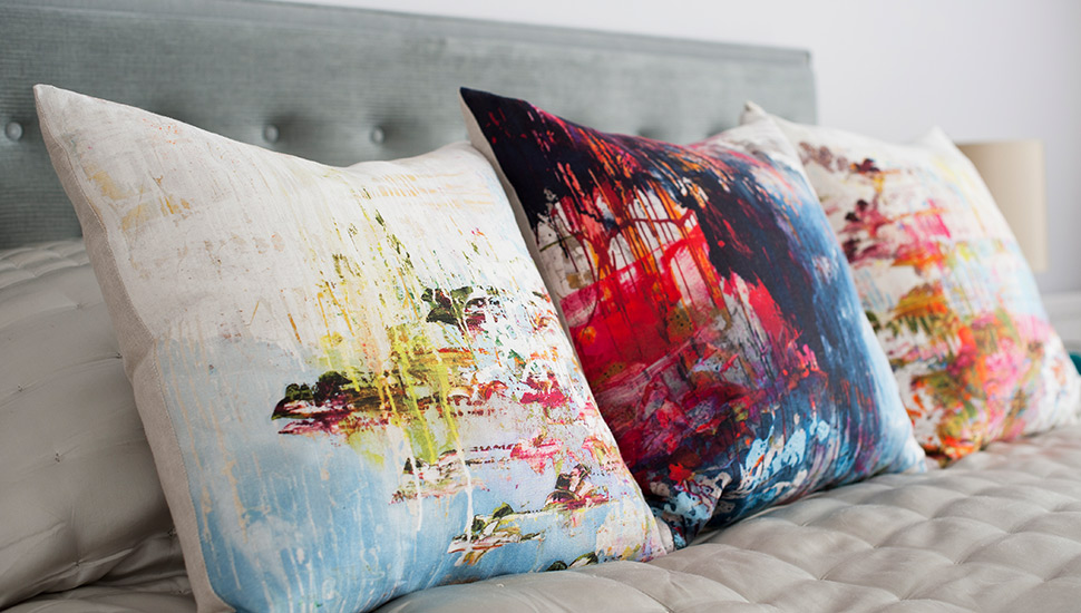 artistic paint print cushions