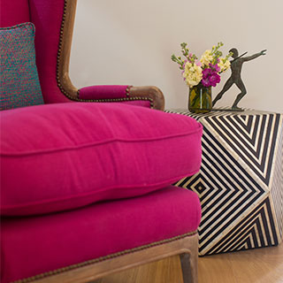 Bright Pink arm chair