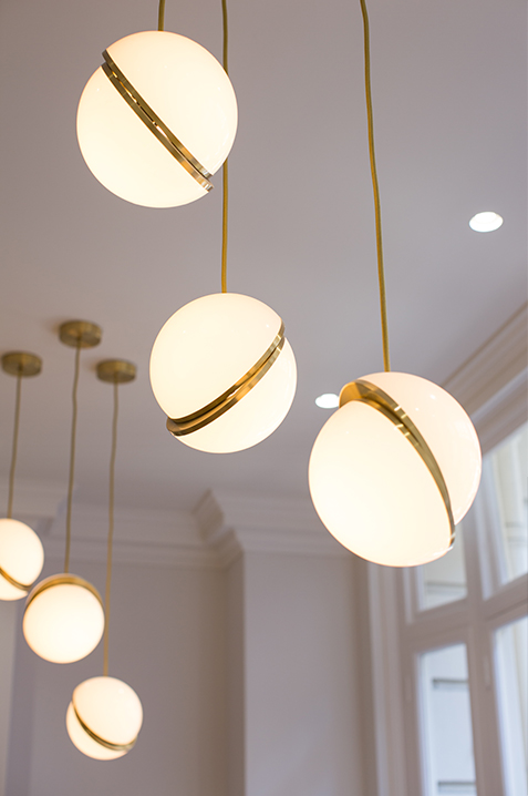 barristers chambers waiting area hanging ceiling light pendants