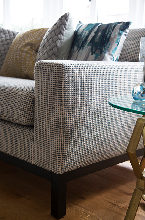 living room seating and cushion fabrics