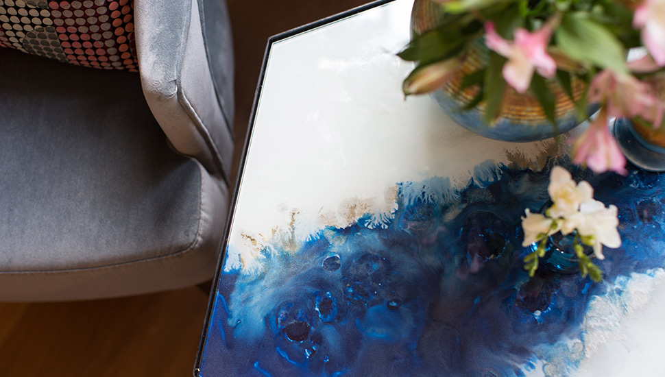 Watercolour coffee table