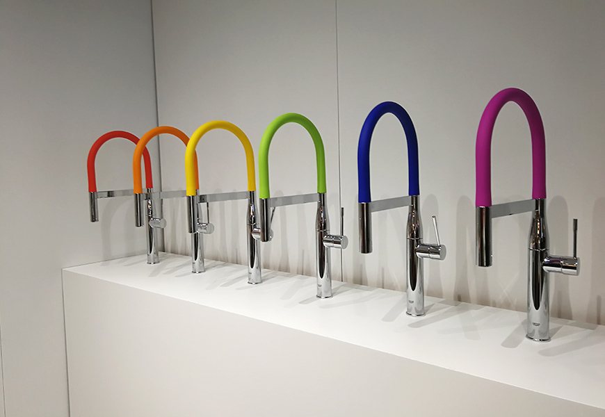 grohe taps in a range of colours