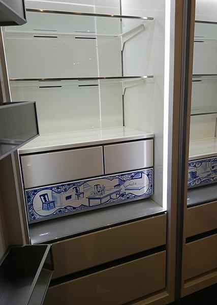 dacor fridge with custom design interior