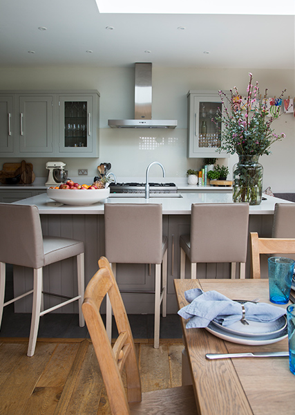 island seating in kitchen