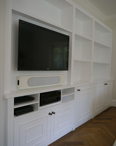 bespoke full wall tv cabinet