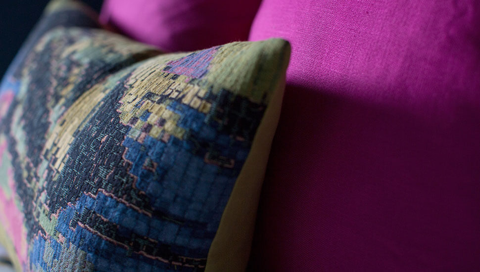 close up of pink cushions