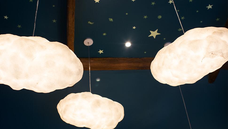 hanging cloud lights