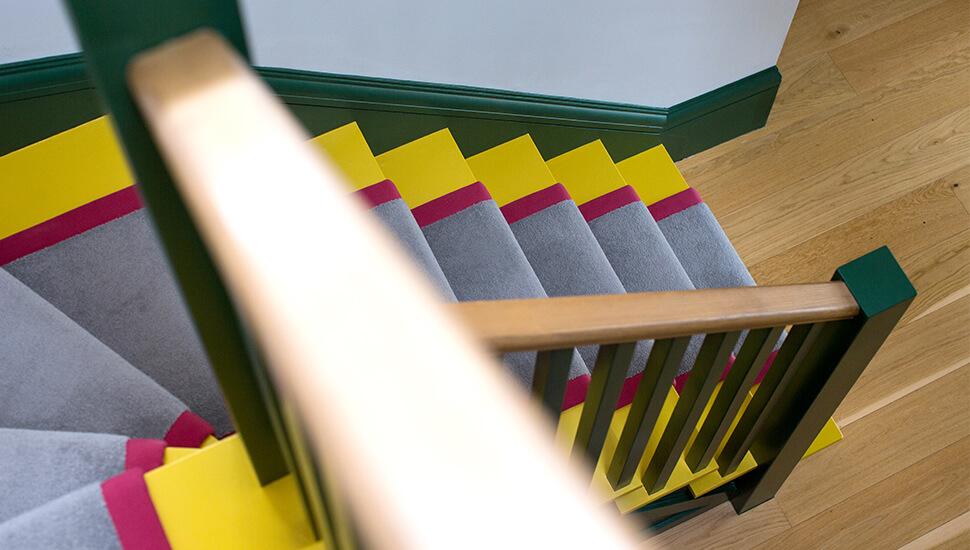 vibrant staircase